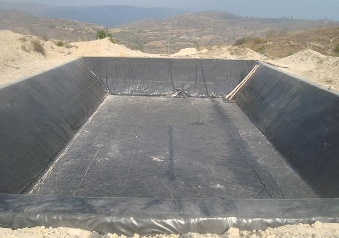 Sigeoteg geomembrana suministro e instalaci n for Geomembrana para estanques de agua